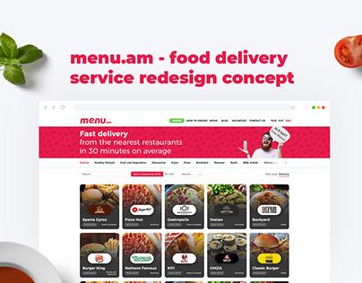 Food Delivery Website Redesign Concept