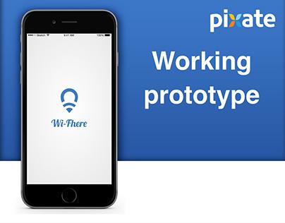 Wi-Fhere - App concept + prototype