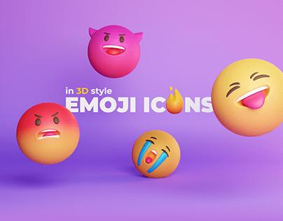 Emoji icons 3D