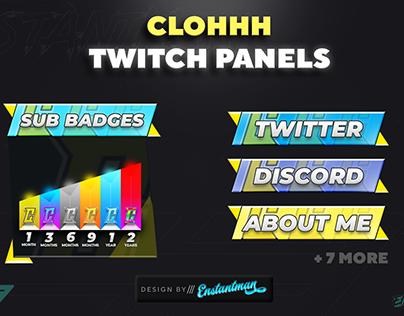 🤯 Clohhh Twitch Panels Pack (Custom)