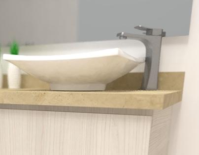 Muebles para Baño | Rendering