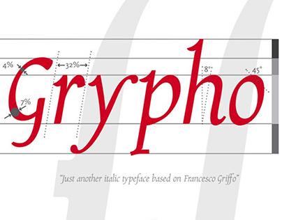 Grypho, an italic typeface