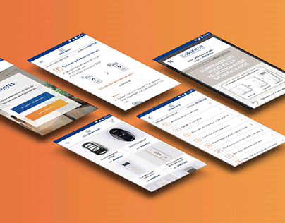 Profalux mobile application design