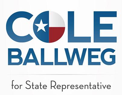 Cole BallWeg For State Rep Logo Design
