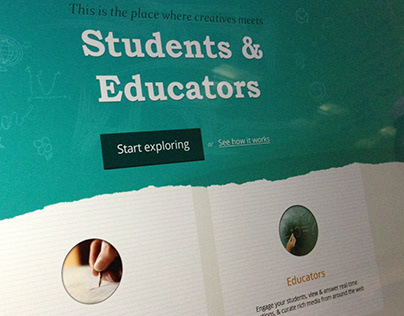 A website for e-learning