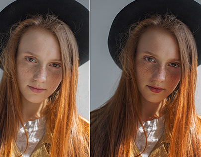 before & after retouching