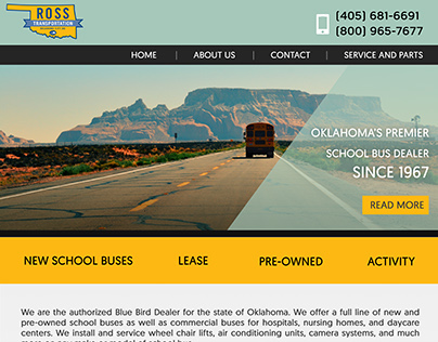 Ross Transportation: Website Design Update Version 3