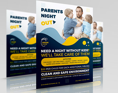 Parents Night Out Flyer Template