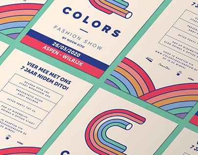 Colors fashion show branding