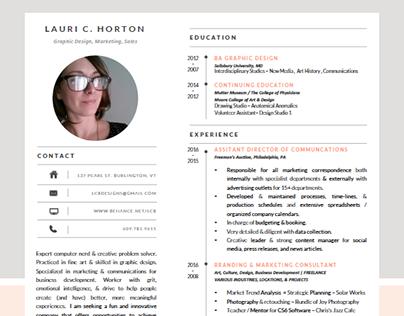 2017 Resume - Lauri C. Horton
