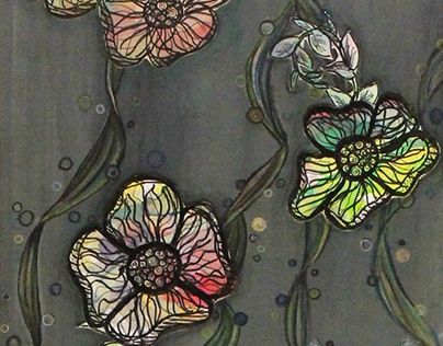 Flowers Mixed Media Project