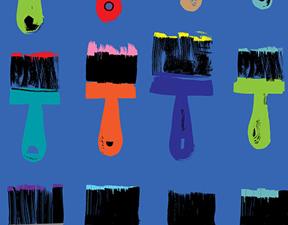 Sample Illustrations (Cover Image - 12 Paintbrushes)