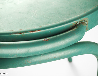 Polyviz Rusty Chair   corona render