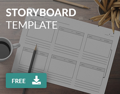 Free A4 storyboard template