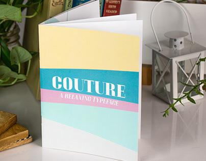 Couture: A Type Specimen