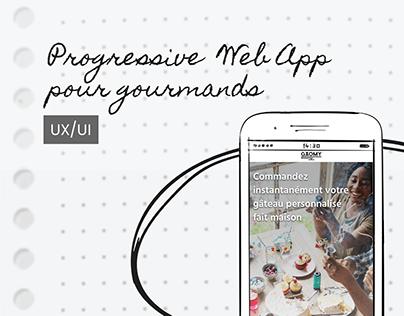 Progressive WebApp pour gourmands • GAOMY • UX/UI