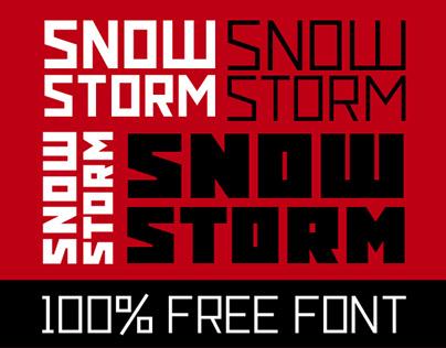 Snowstorm (free font)