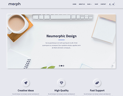 Morph - Neumorphism Inspired WordPress Theme
