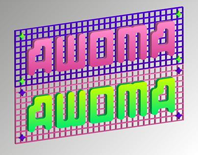 AWOMA typeface free font cyrillic & latin