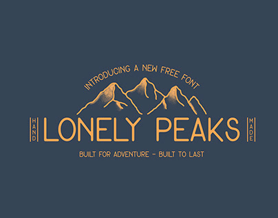FREE FONT - Lonely Peaks