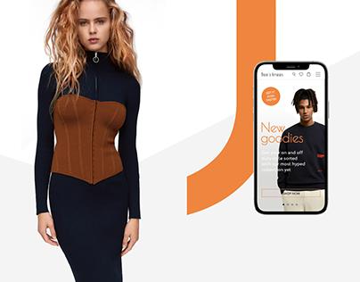 Clothing store website UI