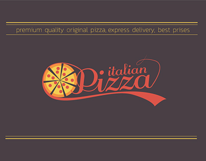 Italian Pizza logo design