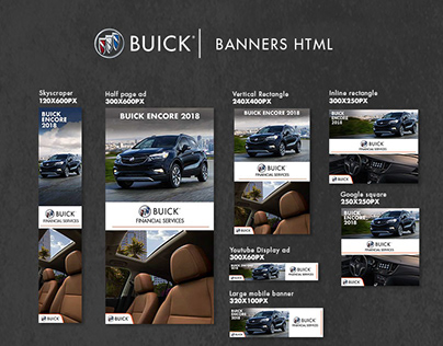 Banners HTML design - Buick