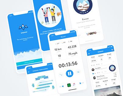 Snoww the social ski app