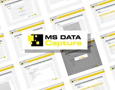 Data Capture Web App. User Interface Design