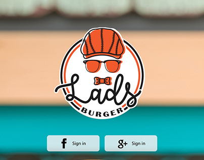 Lads Burger Logo Design + App Design