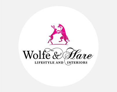 Wolfe & Hare logo and branding design