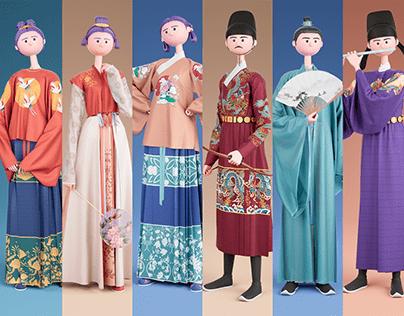 服章之美——3D汉服人物系列 Traditional Chinese Costumes