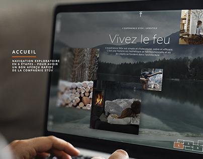 Stûv / Site Web / Pitch