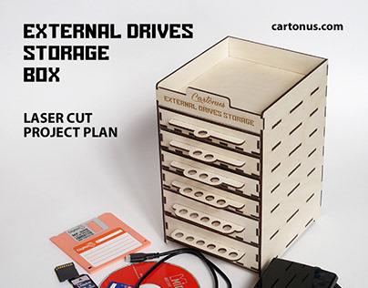 External drives storage box