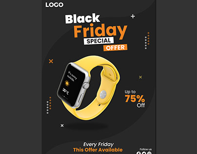 Black Friday Special Offer Flyer Template 2021