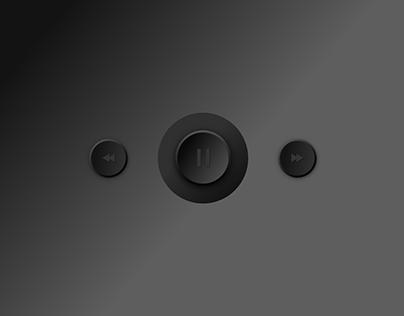Music Player Button -- Dark and Light Mode