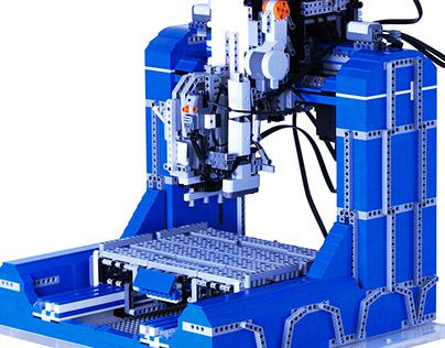Lego Mechanics/NXT 3-axis CNC Prototype