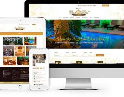 Diseño de sitio web Hotel Casa Real Villa de Leyva.