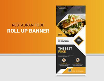 Restaurants Food Roll Up Banner Design