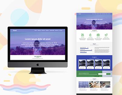 Brabdio Landing Web Page Design