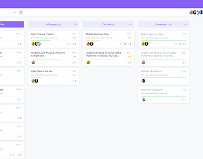 Personal Task Management UI Concept for Web
