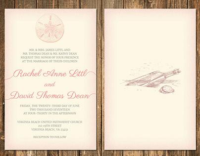 Littl Dean Wedding Invitation
