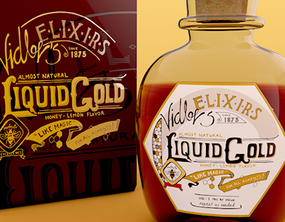 Vidler's Elixirs - Hand Lettering and Package Design