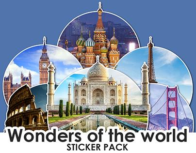 "Sticker pack ""Wonders of the world"""