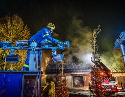 Einsatzdokumentation eines Brandes in der Neujahrsnacht