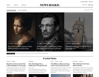 Newsboard - Creative Magazine Publisher HTML Template