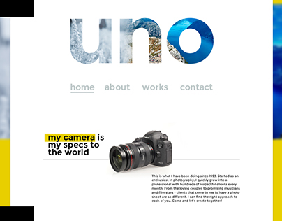 Photography Showcase Website Design