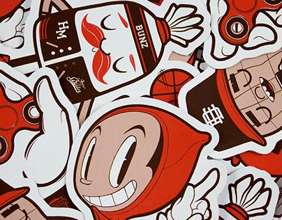 Poppy Red - Stickerpack