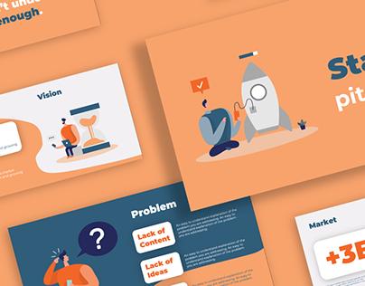 Pitch Deck design for Startup