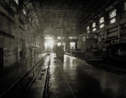 Evening at the depot